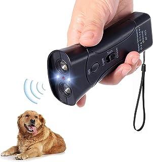 Alfaw 超声波狗驱赶器,电子防吠止吠器手持式3合1宠物狗训练器,带LED手电筒,狗狗训练设备保护您的* - 狗盗/训练工具/停止吠叫