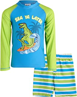 Sweet & Soft 男婴 2 件套*服和短裤泳装套装 - 长袖(婴儿/幼儿/大童)