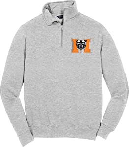 NCAA Mercer Bears 男式 1/4 拉链套头衫,XL 码,运动麻灰色