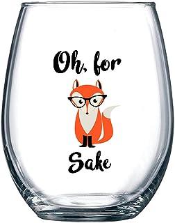 Oh, For Fox Sake 425.24g 无*杯趣味*杯 √ 独特的狐狸主题生日礼物 送给男士或女士的爱 狐狸爱好者 礼物 送给他或她 办公室牛仔和*好的朋友的想法