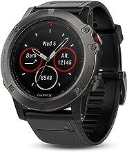 Garmin 佳明 Fenix 5X蓝宝石镜面GPS智能腕表 - 青灰表盘,黑色表带