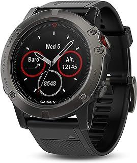 Garmin Fenix 5X 手表,蓝宝石—黑灰色表带