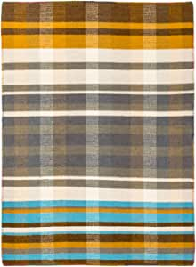 Solo Rugs Dutch I 复古平织手工编织小地毯 棕色 4' x 6' GG010501024