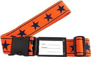 VANGUARD 行李箱腰带 橙色×藏青色 尺寸:宽约5cm×使用长约172cm