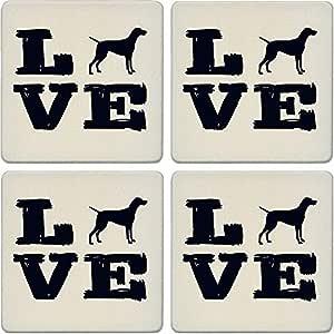 """杯垫吸水杯垫(4 件套) Pet Love Vizsla 4-1/4"""" LJ0213"""