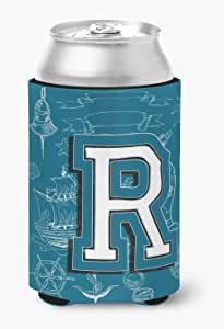 字母 R Sea Doodles 大写字母*瓶饮料保温器 Hugger CJ2014-RLITERK