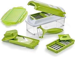 Genius Nicer Dicer Smart 9 件式 切割 研磨 刨片 切丁 水果和蔬菜刀 电视广告 新款 kiwi-grün 22.2  x  10  x  8.1999999999999993 cm