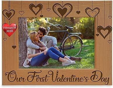 Kate Posh - Our First Valentine's Day 我们的*个情人节雕刻木相框 (A19444661) 天然实木 5x7-Horizontal (Feb 14, 2019)