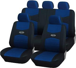 Lupex Shop A19 _ A.N 通用座套带方向盘套和 2 个仿制品,浅蓝色/黑色