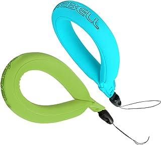 luxebell 防水相機漂浮板,通用浮動腕帶適用于 GOPRO ,尼康,佳能,索尼,賓得相機,攝像機,松下,鑰匙和太陽鏡 Blue&Green