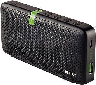 Leitz 便携式蓝牙扬声器,带内置移动电源,60 小时播放,完整范围 65190095 - 黑色