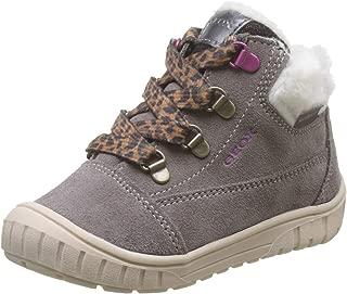 Geox Baby B OMAR Girl WPF A Boots, (Smoke Grey C9006), 7.5 UK