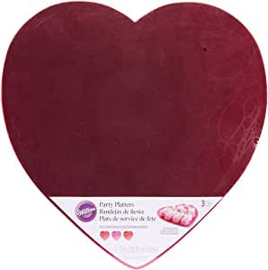 "Party Platters-12"" Heart Pink & Red 3/Pkg"