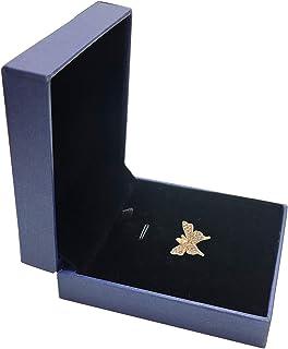 Speverdr DIY 立方氧化锆蝴蝶颈链吊坠项链手链昆虫配件带礼品盒