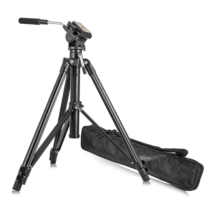カメラのZOMEIはカメラ三脚ボールヘッドクイックリリースプレートアルミDSLR三脚、キヤノン、ニコンデジタル一眼レフDV黒コンパクト三脚VT-2000