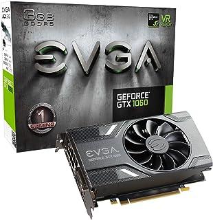 EVGA GeForce GTX 1060 游戏显卡 03G-P4-6160-KR 3GB,ACX 2.0(单风扇),3GB GDDR5,DX12 OSD支持(PXOC)