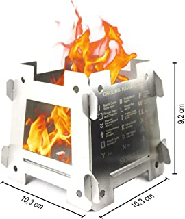 Outdoor Pocket Stove. Only 5 pieces. 100% stainless steel. Made in Spain.