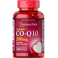 Puritan's Pride普丽普莱 Q-SORB CoQ10 200毫克,心脏健康支持补充胶囊,易释放软胶囊,240粒
