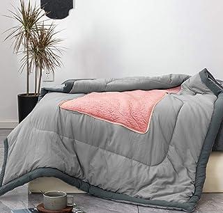 """AYASW 床枕 珊瑚色 throw pillow 17""""x17/throw blanket 47""""x67"""""""