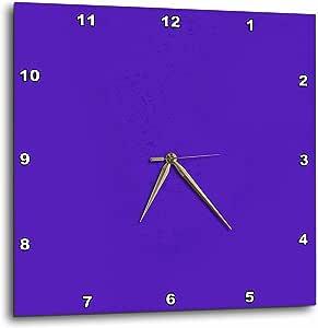 3dRose dpp_4125_2 Purple-Wall Clock, 13 by 13-Inch