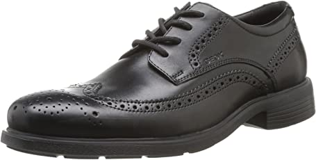 Geox 健乐士 U Dublin 布洛克 男士商务正装鞋