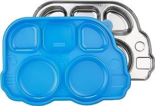 Innobaby 依路比 Din Din智能不锈钢分隔盘,带分段盖,适用于婴儿,幼儿和儿童的不锈钢分隔盘,不含BPA