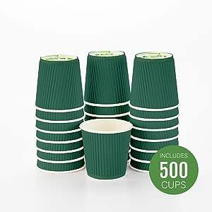 Restaurantware 隔热纸咖啡杯 森林绿 4盎司 RWA0277DG