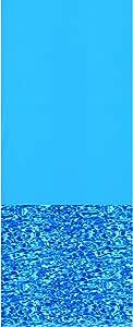 swimline Oval Swirl Bottom Ovrlp Liner Stand Ga 蓝色 15 by 25-Feet