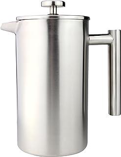 AmazonUkkitchen 咖啡厅 1500 毫升 12 杯 双层 直筒 咖啡机 镀铬 16 x 18 x 27 厘米 绸缎 6 Cup CFD-06S