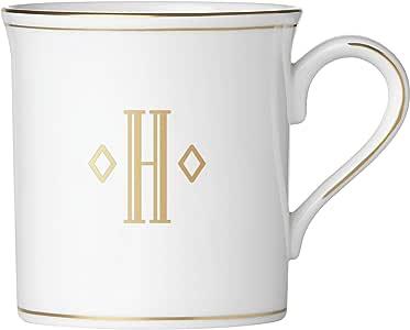 Lenox Federal Gold Monogram Block Dinnerware Mug 白色 12 盎司