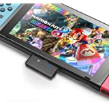 Nintendo 任天堂切换蓝牙发射器音频适配器,AirPods PS4 Bose Sony,蓝牙耳机,电视,笔记本电脑,电脑(黑色) Bluetooth audio transmitter Bluetooth audio transmitter