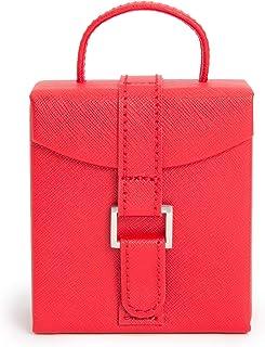 WOLF Heritage 折叠首饰盒,红色十字纹