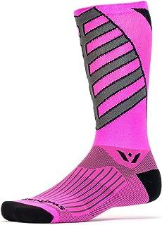 Swiftwick - 骑行袜,Vision 8 球队 - 柔软、无缝脚趾,性能压缩袜