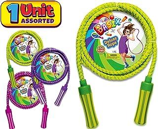 JA-RU Lazer 跳绳 7 英尺(24 条线散装)混色跳绳适合男孩、女孩、儿童和成人 超棒的派对礼品玩具。 Deluxe Basix Jump Rope 1包