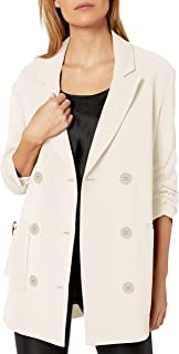 A X Armani阿玛尼女式经典双排扣西装,束袖设计