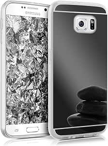 kwmobile 后视镜手机壳 - TPU 硅胶缓冲保护套反光后壳 - 黑色反光37790.01_m000352 .black reflective