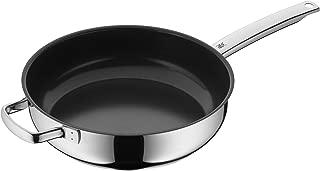 WMF 福騰寶燉鍋 涂層 直徑 28 厘米 防水 加固邊緣 不銹鋼把手 Cromargan 不銹鋼 陶瓷防粘涂層 感應 可手洗