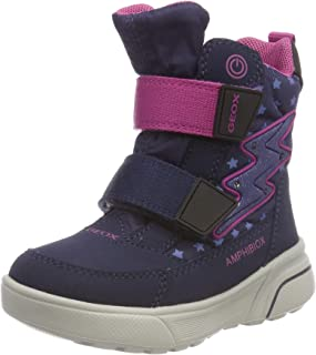 Geox J Sveggen 女孩 B ABX B 雪地靴 (Dk Blue/Dk Fuchsia C4m8d) 12.5 UK Child