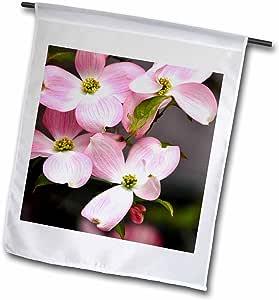 PS Flowers–粉红色 dogwood Flowers–弹簧摄影–旗帜 12 x 18 inch Garden Flag