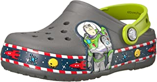 Crocs 卡骆驰儿童男孩和女孩鳄鱼玩具总动员 Buzz Lightyear 发光洞洞鞋