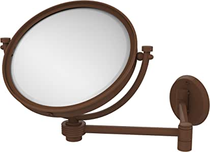 Allied Brass WM-6G/5X-ABZ 8-Inch Wall Mirror with 5x Magnification, Extends Up to 14-Inch, Antique Bronze
