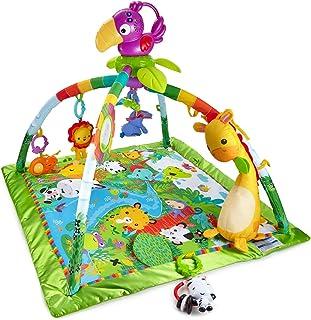 Fisher-Price 费雪 雨林游戏垫 DFP08 带音乐和灯光 带有柔软撑柱的婴儿游戏垫 初生婴儿,带巨嘴鸟