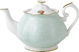 Royal Albert 波尔卡玫瑰 复古茶壶 1.25L