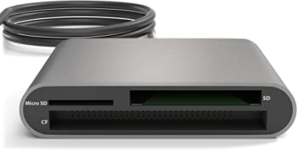 KabelDirekt USB-C 數字存儲卡讀卡器 (SDXC、SDHC、SD、MMC、MMCplus、microSDXC、microSDHC、microSD、CF 類型 I、Microdrive)