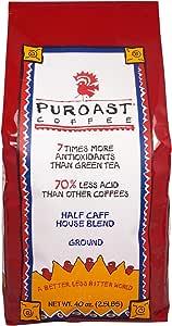 Puroast 低酸咖啡 半咖啡因 家庭混合式 滴滤 研磨,1133克/袋