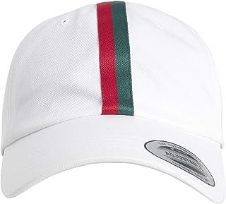 Flexfit 条纹爸爸帽 white/firered/green Einheitsgröße