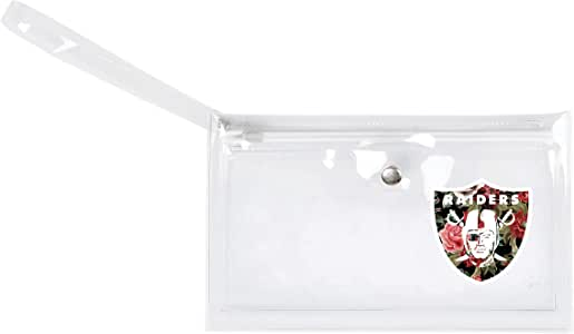 Littlearth NFL Oakland Raiders 透明 Ticket Wristlet 钱包