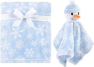 Hudson 男女宝宝通用婴儿毛绒毯,带*毯 雪人 均码