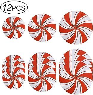 ZYXY 12 件薄荷地板贴纸创意墙贴贴纸适用于圣诞糖果派对装饰