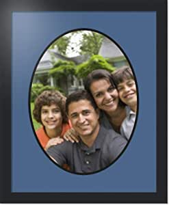 ArtToFrames 拼贴照片框双垫,带 1 个开口和黑色缎框。 皇家蓝 1-12x16 Double-Multimat-1489-836/89-FRBW26079